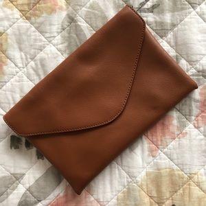 J Crew Genuine Brown Leather Handbag